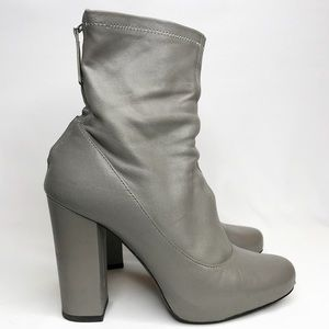 SOLD! ZARA Grey Leather Boots